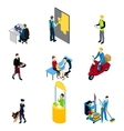 Characters Professions Isometric Set vector image