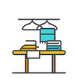 cleaning service flat line concept vector image