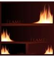 fire frames on black background vector image