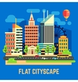 Flat city urban landscape vector image