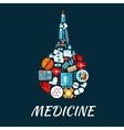 Medical flat icons shaped as enema symbol vector image