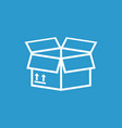 packaging box icon with arrow symbol shipping vector image