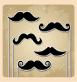 set of hipster party mustache vector image