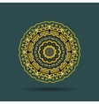 Yellow black mandala vector image