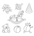 Toys for coloring vector image vector image