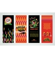 Vertical banners set with Brazil Carnival vector image