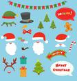 Christmas Prop Set vector image vector image