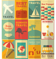Travel Posters Set vector image