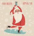 Christmas Santa vector image