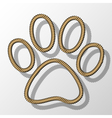 Paw Print-Rope vector image vector image