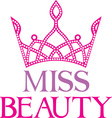 Miss beauty icon vector image vector image
