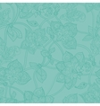 Seamless pattern in pastel green tones vector image