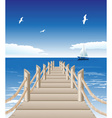 Beach Pier Background vector image vector image