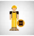 character construction man with concrete vector image