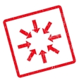 Collapse Arrows Icon Rubber Stamp vector image
