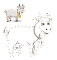 Connect the dots game goat vector image