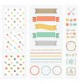 Cute light color design elements set vector image
