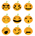Halloween pumpkin set vector image