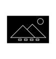 image file icon sign o vector image