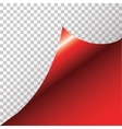 Red sticker with curled corner vector image