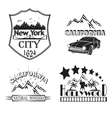 Set logos Cityscalper New York California vector image