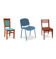 set of different chairs for home and vector image