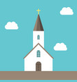 small church sky background vector image