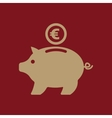The moneybox and euro icon Cash and money wealth vector image