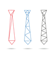 Tie abstract isolated vector image