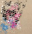 art pattern on cardboard vector image vector image