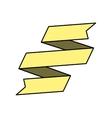 banner ribbon yellow graphic vector image