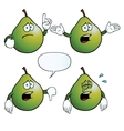 Crying pear set vector image