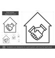 real estate agreement line icon vector image