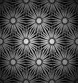 silver floral explosion background vector image vector image