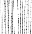 Barbed wire vertical vector image