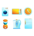 Home equipment icons vector image