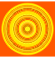 knit sun vector image vector image