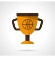 Basketball award flat color design icon vector image