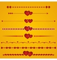 Border heart vector image