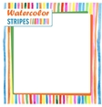 card with bright colored stripes template vector image