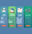 education and science vertical layout concepts vector image