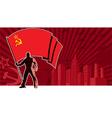 Flag Bearer USSR Background vector image