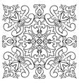 Hand drawing tile vintage black line pattern vector image