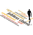 in word clouds of the word Jobless Claims vector image
