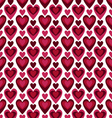 pattern hearts on white vs vector image