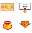 set of basketball vector image