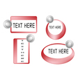 Set of Red Banner On White Background vector image