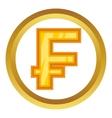 Swiss frank icon vector image