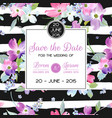 wedding invitation template with spring flowers vector image