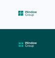 Window geometric group logo vector image